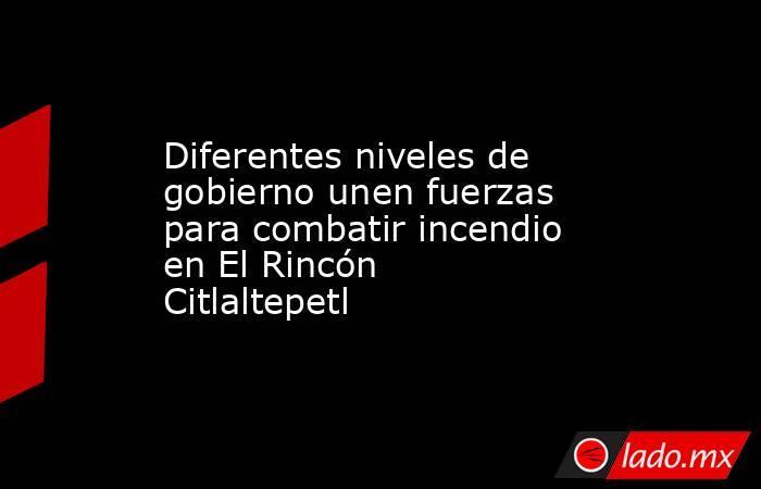 Diferentes niveles de gobierno unen fuerzas para combatir incendio en El Rincón Citlaltepetl. Noticias en tiempo real