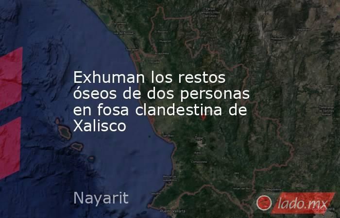 Exhuman los restos óseos de dos personas en fosa clandestina de Xalisco. Noticias en tiempo real