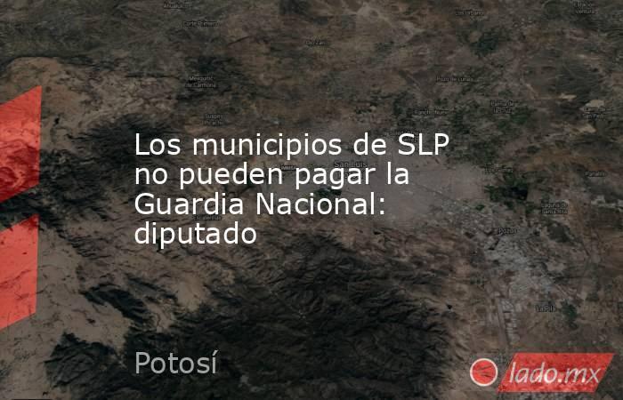 Los municipios de SLP no pueden pagar la Guardia Nacional: diputado. Noticias en tiempo real