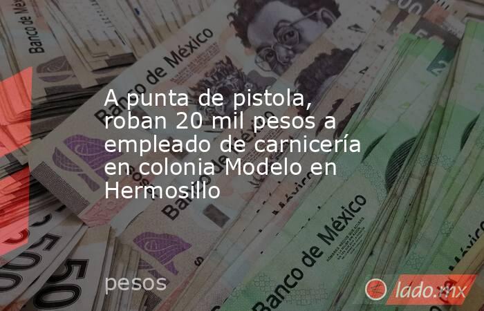A punta de pistola, roban 20 mil pesos a empleado de carnicería en colonia Modelo en Hermosillo. Noticias en tiempo real
