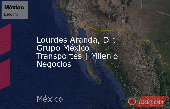 Lourdes Aranda, Dir. Grupo México Transportes | Milenio Negocios. Noticias en tiempo real