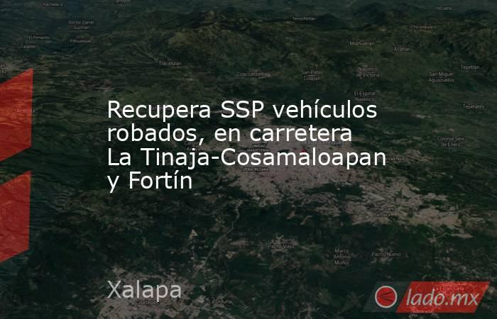 Recupera SSP vehículos robados, en carretera La Tinaja-Cosamaloapan y Fortín. Noticias en tiempo real