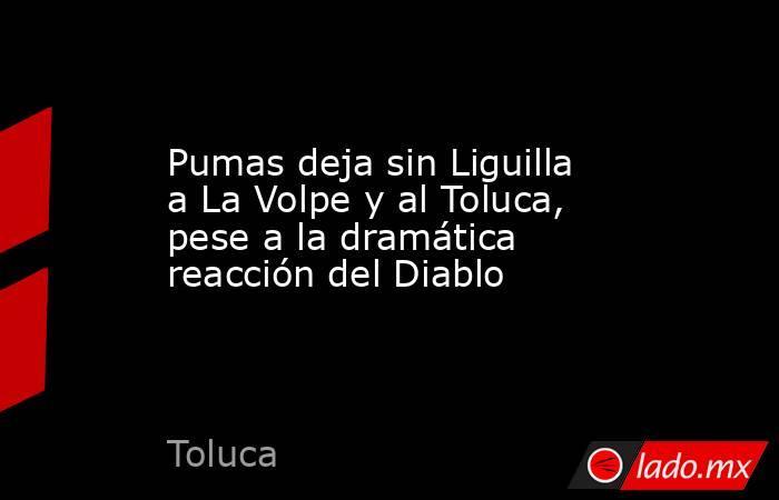 Pumas deja sin Liguilla a La Volpe y al Toluca, pese a la dramática reacción del Diablo. Noticias en tiempo real