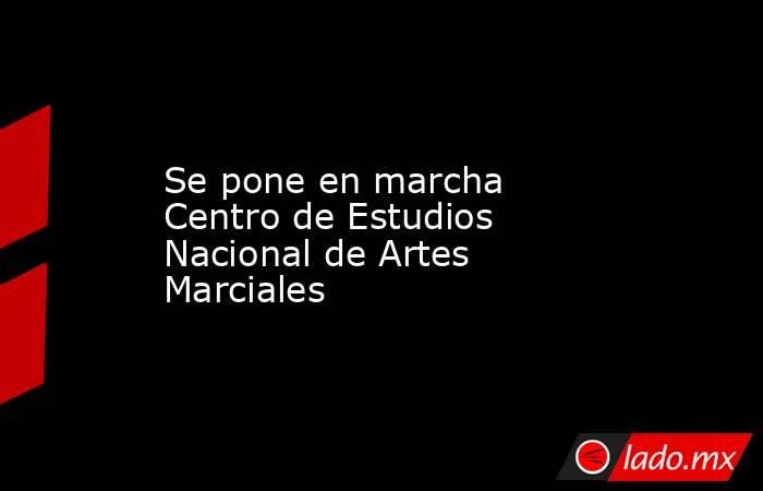 Se pone en marcha Centro de Estudios Nacional de Artes Marciales. Noticias en tiempo real