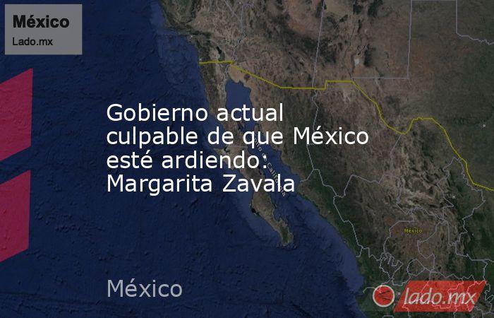 Gobierno actual culpable de que México esté ardiendo: Margarita Zavala. Noticias en tiempo real