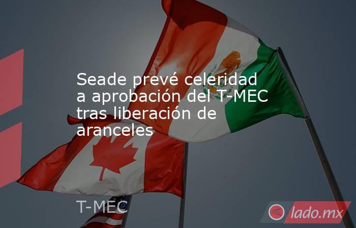 Seade prevé celeridad a aprobación del T-MEC tras liberación de aranceles. Noticias en tiempo real