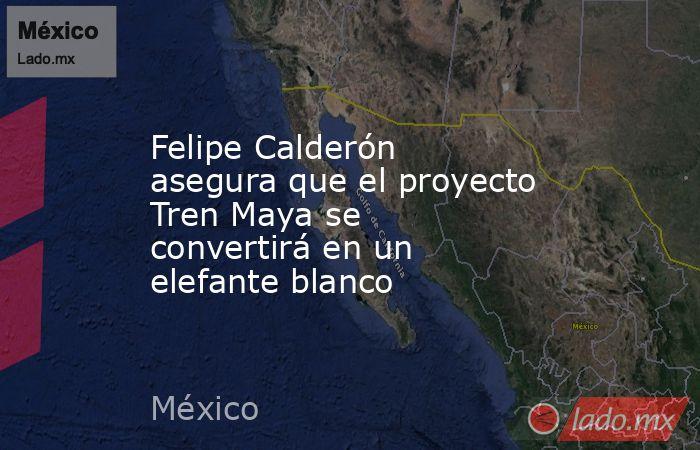 Felipe Calderón asegura que el proyecto Tren Maya se convertirá en un elefante blanco. Noticias en tiempo real