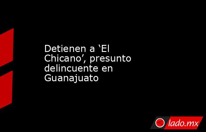 Detienen a 'El Chicano', presunto delincuente en Guanajuato. Noticias en tiempo real