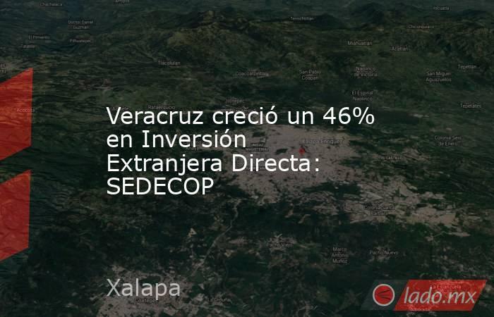 Veracruz creció un 46% en Inversión Extranjera Directa: SEDECOP. Noticias en tiempo real
