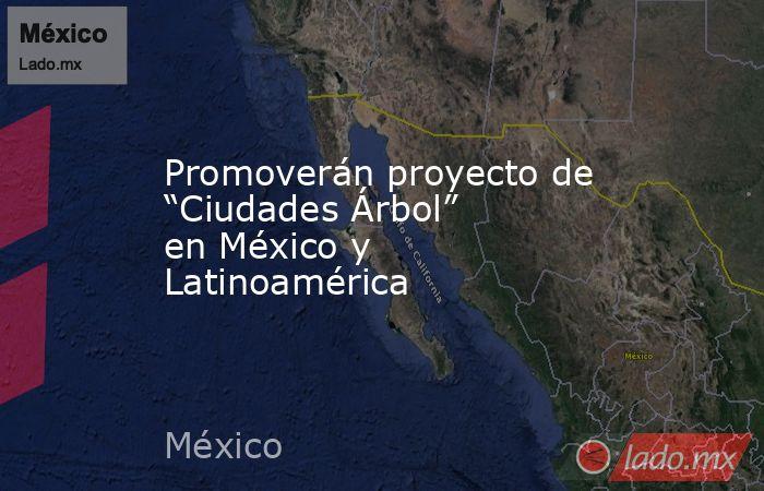 """Promoverán proyecto de """"Ciudades Árbol"""" en México y Latinoamérica. Noticias en tiempo real"""
