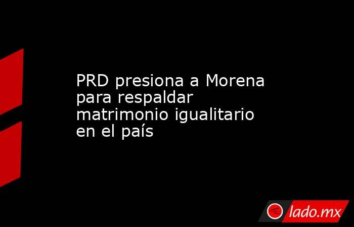 PRD presiona a Morena para respaldar matrimonio igualitario en el país. Noticias en tiempo real