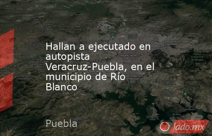 Hallan a ejecutado en autopista Veracruz-Puebla, en el municipio de Río Blanco. Noticias en tiempo real