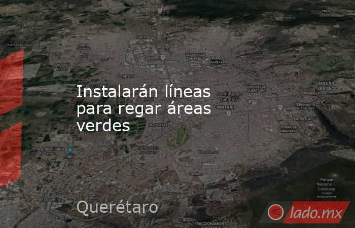 Instalarán líneas para regar áreas verdes. Noticias en tiempo real