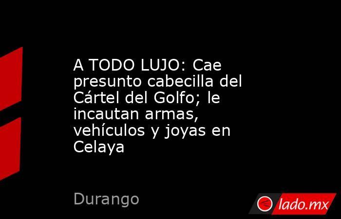 A TODO LUJO: Cae presunto cabecilla del Cártel del Golfo; le incautan armas, vehículos y joyas en Celaya. Noticias en tiempo real