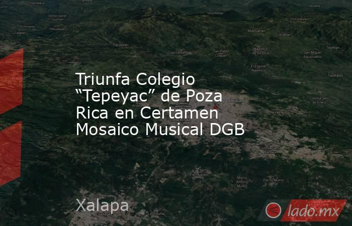 """Triunfa Colegio """"Tepeyac"""" de Poza Rica en Certamen Mosaico Musical DGB. Noticias en tiempo real"""