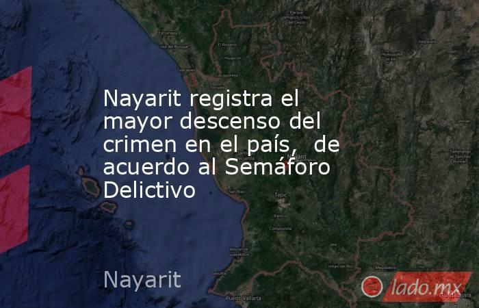 Nayarit registra el mayor descenso del crimen en el país,  de acuerdo al Semáforo Delictivo. Noticias en tiempo real