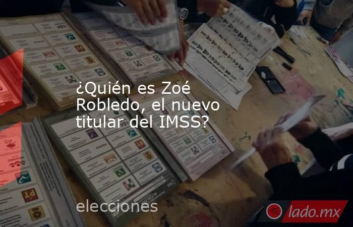 ¿Quién es Zoé Robledo, el nuevo titular del IMSS?. Noticias en tiempo real