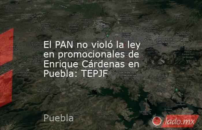 El PAN no violó la ley en promocionales de Enrique Cárdenas en Puebla: TEPJF. Noticias en tiempo real