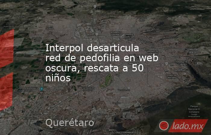 Interpol desarticula red de pedofilia en web oscura, rescata a 50 niños. Noticias en tiempo real