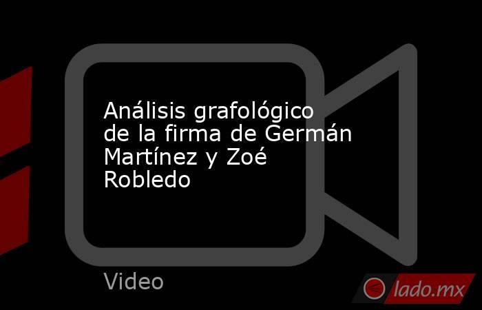 Análisis grafológico de la firma de Germán Martínez y Zoé Robledo. Noticias en tiempo real