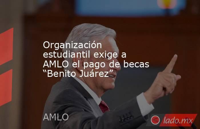 """Organización estudiantil exige a AMLO el pago de becas """"Benito Juárez"""". Noticias en tiempo real"""