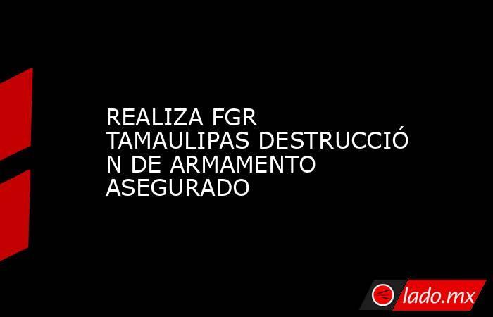 REALIZA FGR TAMAULIPASDESTRUCCIÓN DE ARMAMENTO ASEGURADO. Noticias en tiempo real