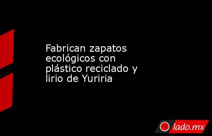 Fabrican zapatos ecológicos con plástico reciclado y lirio de Yuriria. Noticias en tiempo real