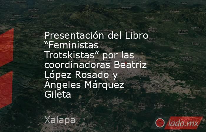 """Presentación del Libro """"Feministas Trotskistas"""" por las coordinadoras Beatriz López Rosado y Ángeles Márquez Gileta. Noticias en tiempo real"""