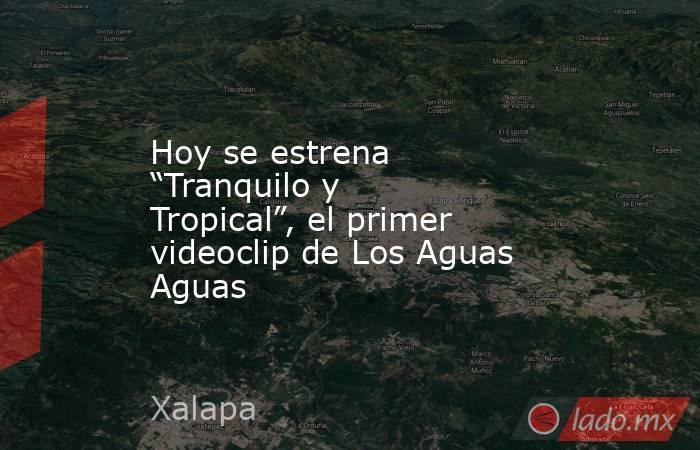 """Hoy se estrena """"Tranquilo y Tropical"""", el primer videoclip de Los Aguas Aguas. Noticias en tiempo real"""