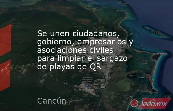 Se unen ciudadanos, gobierno, empresarios y asociaciones civiles para limpiar el sargazo de playas de QR. Noticias en tiempo real