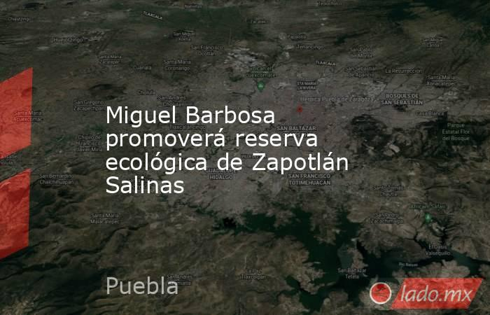 Miguel Barbosa promoverá reserva ecológica de Zapotlán Salinas. Noticias en tiempo real