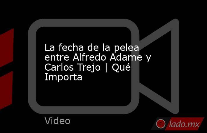 La fecha de la pelea entre Alfredo Adame y Carlos Trejo | Qué Importa. Noticias en tiempo real