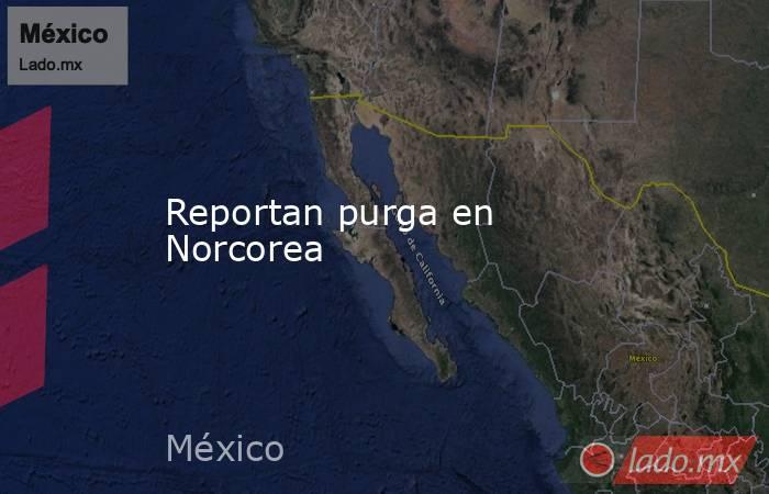 Reportan purga en Norcorea. Noticias en tiempo real