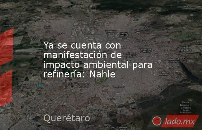 Ya se cuenta con manifestación de impacto ambiental para refinería: Nahle. Noticias en tiempo real