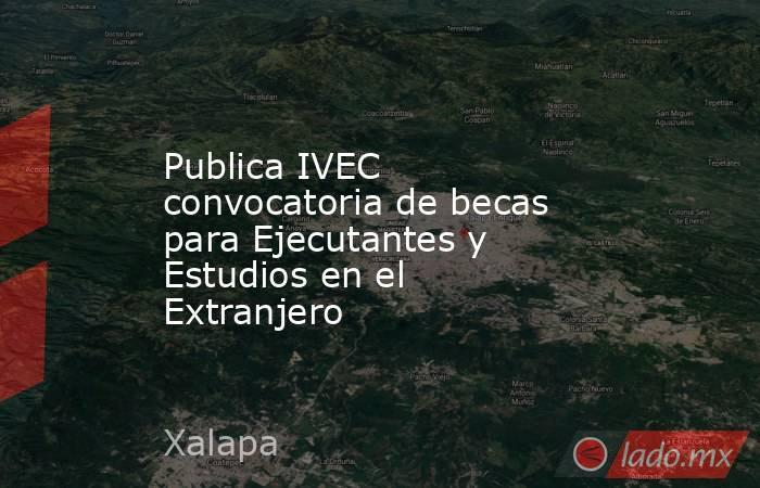 Publica IVEC convocatoria de becas para Ejecutantes y Estudios en el Extranjero. Noticias en tiempo real