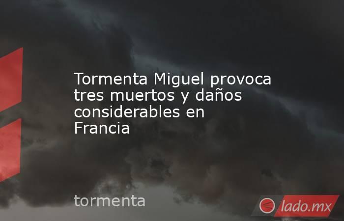 Tormenta Miguel provoca tres muertos y daños considerables en Francia. Noticias en tiempo real