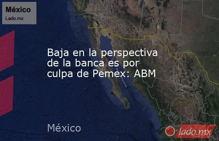 Baja en la perspectiva de la banca es por culpa de Pemex: ABM. Noticias en tiempo real