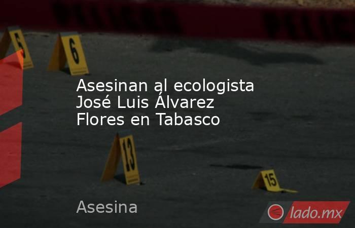 Asesinan al ecologista José Luis Álvarez Flores en Tabasco. Noticias en tiempo real