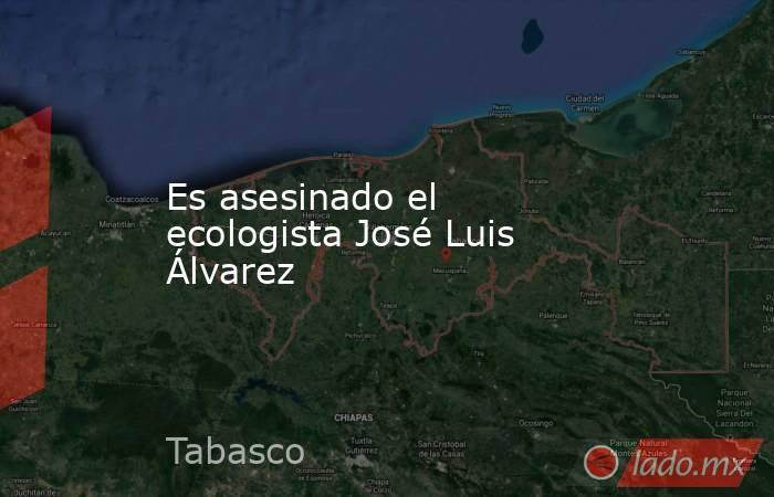Es asesinado el ecologista José Luis Álvarez. Noticias en tiempo real