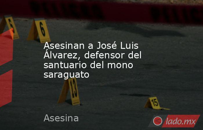 Asesinan a José Luis Álvarez, defensor del santuario del mono saraguato . Noticias en tiempo real