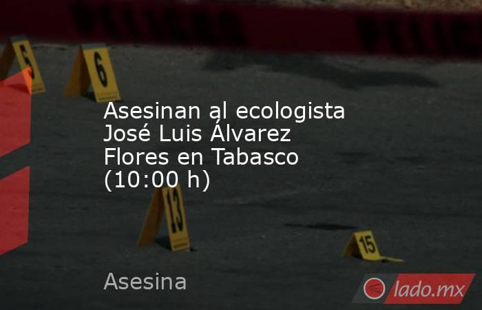 Asesinan al ecologista José Luis Álvarez Flores en Tabasco (10:00 h). Noticias en tiempo real