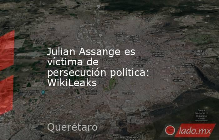 Julian Assange es víctima de persecución política: WikiLeaks. Noticias en tiempo real
