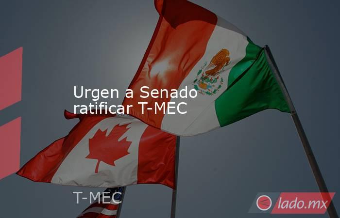 Urgen a Senado ratificar T-MEC. Noticias en tiempo real