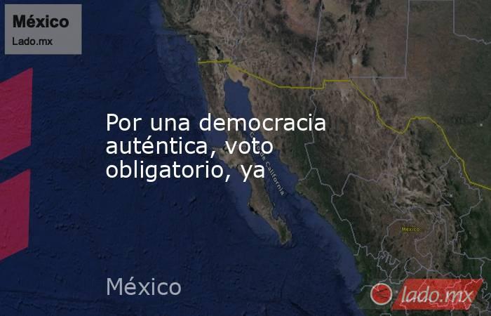 Por una democracia auténtica, voto obligatorio, ya. Noticias en tiempo real