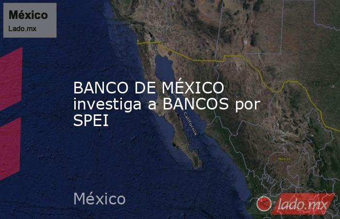 BANCO DE MÉXICO investiga a BANCOS por SPEI. Noticias en tiempo real