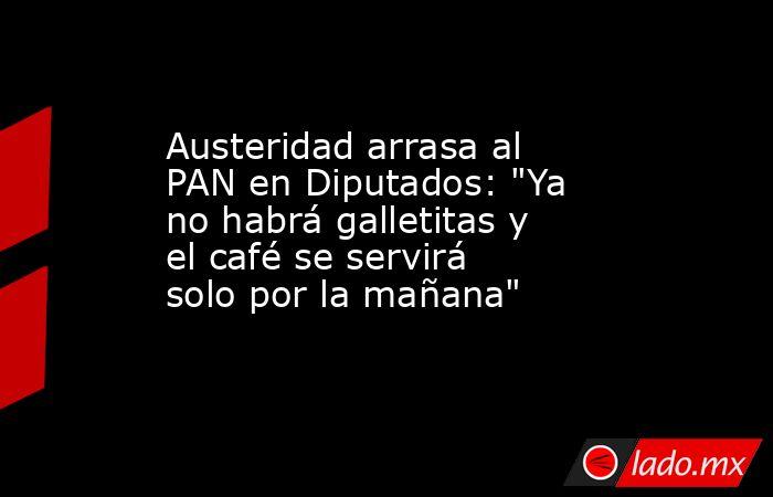 Austeridad arrasa al PAN en Diputados: