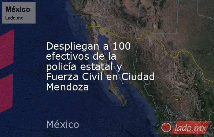 Despliegan a 100 efectivos de la policía estatal y Fuerza Civil en Ciudad Mendoza. Noticias en tiempo real