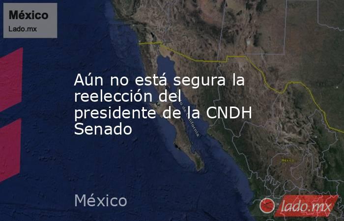 Aún no está segura la reelección del presidente de la CNDH Senado. Noticias en tiempo real