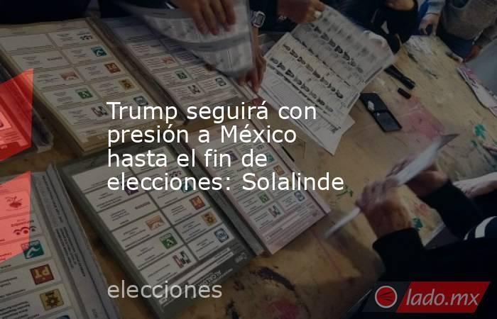 Trump seguirá con presión a México hasta el fin de elecciones: Solalinde. Noticias en tiempo real