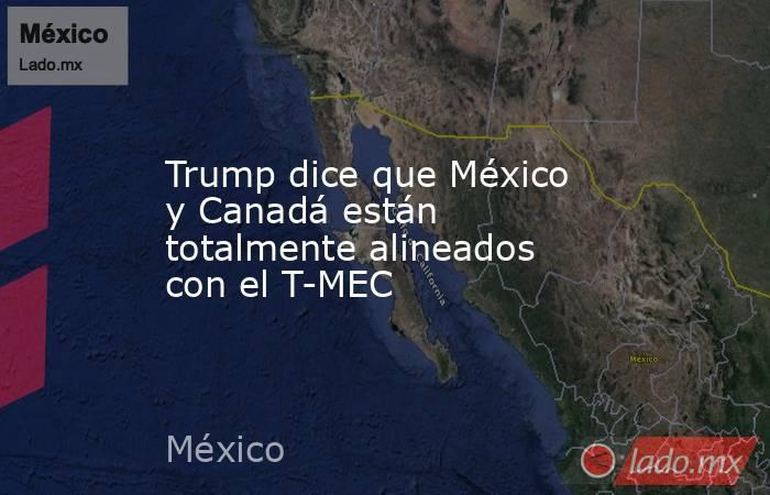Trump dice que México y Canadá están totalmente alineados con el T-MEC. Noticias en tiempo real